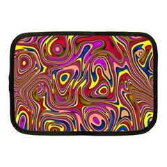 Abstract Shimmering Multicolor Swirly Netbook Case (Medium)