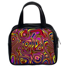 Abstract Shimmering Multicolor Swirly Classic Handbags (2 Sides) by designworld65