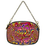 Abstract Shimmering Multicolor Swirly Chain Purses (One Side)