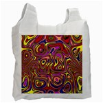 Abstract Shimmering Multicolor Swirly Recycle Bag (One Side)