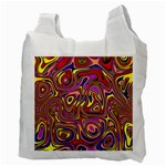 Abstract Shimmering Multicolor Swirly Recycle Bag (Two Side)  Back