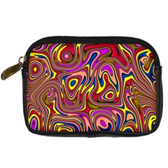 Abstract Shimmering Multicolor Swirly Digital Camera Cases