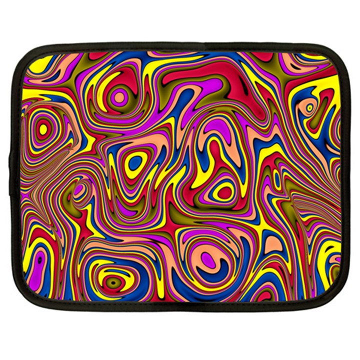 Abstract Shimmering Multicolor Swirly Netbook Case (XXL)