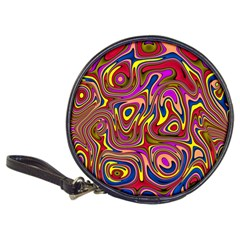 Abstract Shimmering Multicolor Swirly Classic 20 Cd Wallets