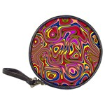Abstract Shimmering Multicolor Swirly Classic 20-CD Wallets Front