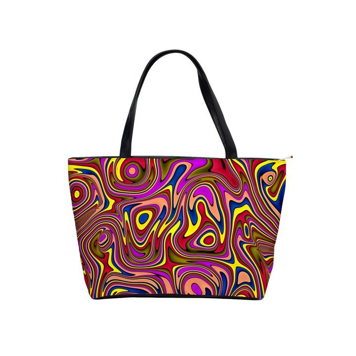 Abstract Shimmering Multicolor Swirly Shoulder Handbags