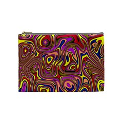 Abstract Shimmering Multicolor Swirly Cosmetic Bag (medium)  by designworld65