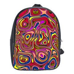 Abstract Shimmering Multicolor Swirly School Bags(Large)