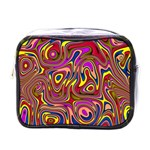 Abstract Shimmering Multicolor Swirly Mini Toiletries Bags