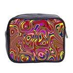 Abstract Shimmering Multicolor Swirly Mini Toiletries Bag 2-Side Back