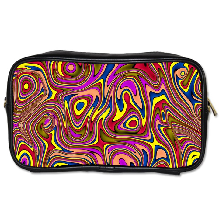Abstract Shimmering Multicolor Swirly Toiletries Bags