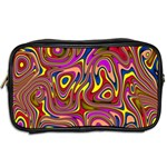 Abstract Shimmering Multicolor Swirly Toiletries Bags 2-Side Back