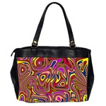 Abstract Shimmering Multicolor Swirly Office Handbags (2 Sides)  Back