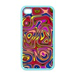 Abstract Shimmering Multicolor Swirly Apple iPhone 4 Case (Color)