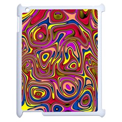 Abstract Shimmering Multicolor Swirly Apple Ipad 2 Case (white) by designworld65