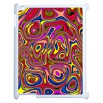 Abstract Shimmering Multicolor Swirly Apple iPad 2 Case (White)