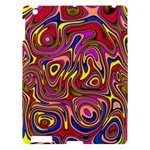 Abstract Shimmering Multicolor Swirly Apple iPad 3/4 Hardshell Case