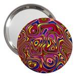 Abstract Shimmering Multicolor Swirly 3  Handbag Mirrors Front