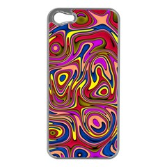 Abstract Shimmering Multicolor Swirly Apple Iphone 5 Case (silver) by designworld65