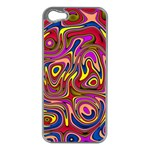 Abstract Shimmering Multicolor Swirly Apple iPhone 5 Case (Silver)