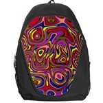 Abstract Shimmering Multicolor Swirly Backpack Bag Front