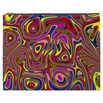 Abstract Shimmering Multicolor Swirly Cosmetic Bag (XXXL)