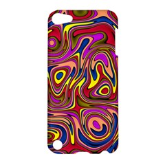 Abstract Shimmering Multicolor Swirly Apple iPod Touch 5 Hardshell Case
