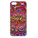 Abstract Shimmering Multicolor Swirly Apple Seamless iPhone 5 Case (Clear) Front