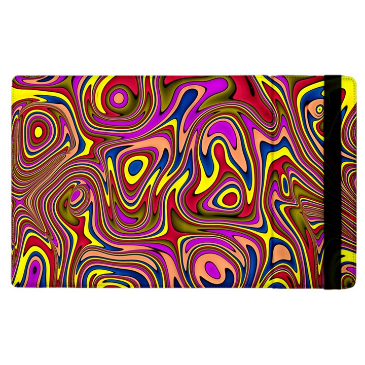 Abstract Shimmering Multicolor Swirly Apple iPad 2 Flip Case
