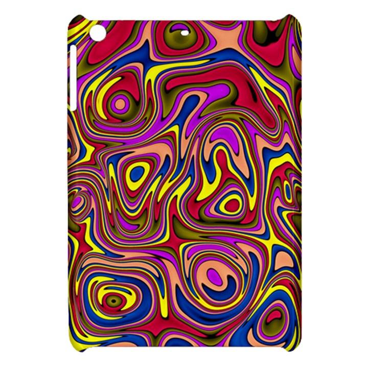 Abstract Shimmering Multicolor Swirly Apple iPad Mini Hardshell Case
