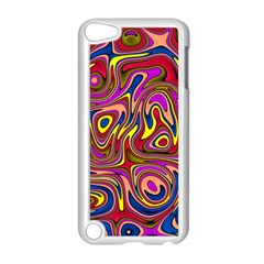 Abstract Shimmering Multicolor Swirly Apple iPod Touch 5 Case (White)