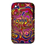 Abstract Shimmering Multicolor Swirly Apple iPhone 3G/3GS Hardshell Case (PC+Silicone)
