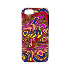 Abstract Shimmering Multicolor Swirly Apple iPhone 5 Classic Hardshell Case (PC+Silicone)