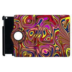 Abstract Shimmering Multicolor Swirly Apple Ipad 2 Flip 360 Case by designworld65