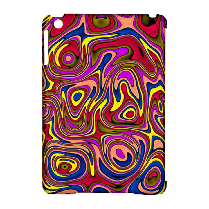 Abstract Shimmering Multicolor Swirly Apple iPad Mini Hardshell Case (Compatible with Smart Cover)