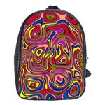 Abstract Shimmering Multicolor Swirly School Bags (XL)  Front