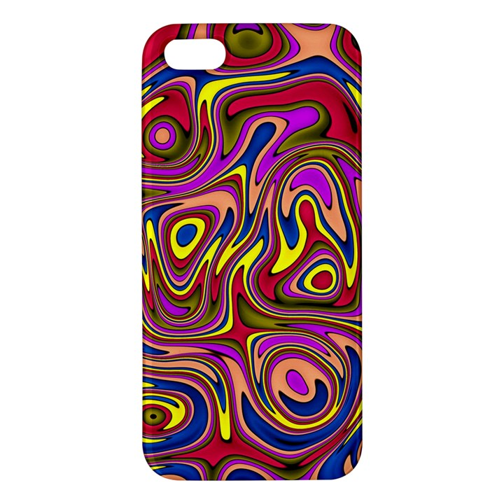 Abstract Shimmering Multicolor Swirly Apple iPhone 5 Premium Hardshell Case