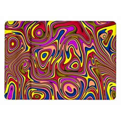 Abstract Shimmering Multicolor Swirly Samsung Galaxy Tab 10 1  P7500 Flip Case by designworld65