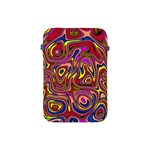 Abstract Shimmering Multicolor Swirly Apple iPad Mini Protective Soft Cases