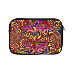Abstract Shimmering Multicolor Swirly Apple Ipad Mini Zipper Cases by designworld65