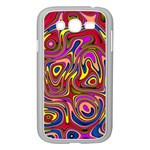Abstract Shimmering Multicolor Swirly Samsung Galaxy Grand DUOS I9082 Case (White)