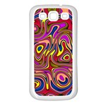 Abstract Shimmering Multicolor Swirly Samsung Galaxy S3 Back Case (White)