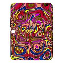 Abstract Shimmering Multicolor Swirly Samsung Galaxy Tab 3 (10 1 ) P5200 Hardshell Case