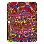 Abstract Shimmering Multicolor Swirly Samsung Galaxy Tab 3 (10.1 ) P5200 Hardshell Case