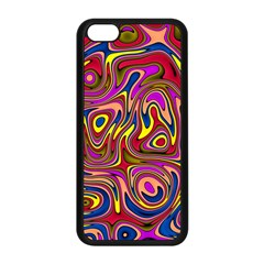 Abstract Shimmering Multicolor Swirly Apple iPhone 5C Seamless Case (Black)