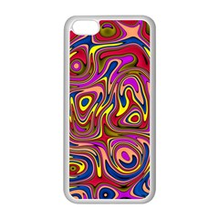 Abstract Shimmering Multicolor Swirly Apple Iphone 5c Seamless Case (white) by designworld65