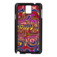 Abstract Shimmering Multicolor Swirly Samsung Galaxy Note 3 N9005 Case (Black)