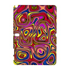 Abstract Shimmering Multicolor Swirly Samsung Galaxy Note 10 1 (p600) Hardshell Case by designworld65