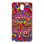 Abstract Shimmering Multicolor Swirly Samsung Galaxy Note 3 N9005 Hardshell Back Case Front