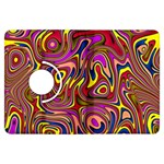 Abstract Shimmering Multicolor Swirly Kindle Fire HDX Flip 360 Case